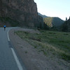 Cold downhill from Creede.  It was in the 30's when we left at about 6:30 am.  It was downhill but we couldn't enjoy it with the cold weather...