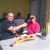 Alan and Dan enjoying the sampler