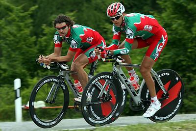 Warm up run for Steffen Radochla and Martin Schöffmann