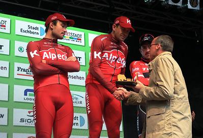 2er Rick Zabel, 1er Alexander Kristoff, 3er John Degenkolb