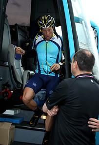 Innsbruck, Austria, May 15th, 2009: Lance Armstrong (Astana) at Innsbruck. GIRO d'Italia 2009 Good morning to everybody!