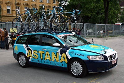 Innsbruck, Austria, May 15th, 2009: GIRO d'Italia 2009 Astana team car