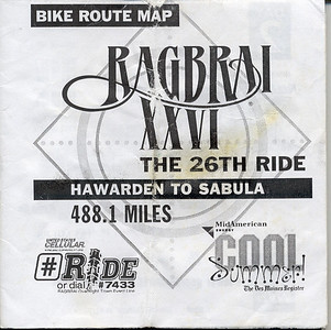 1998-7-17 000 Ragbrai XXVI The 26th Ride Hawarden to Sabula 488.1 Miles