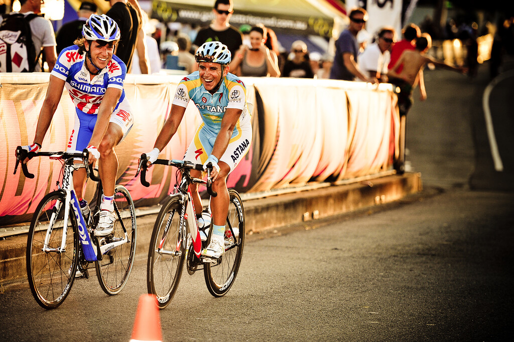 """Winners are Grinners"" - Noosa Men's Cycling Grand Prix, 2010. Noosa Triathlon Multi Sport Festival, 30 October, Sunshine Coast, Queensland, Australia. (PH Surreal Moment)"