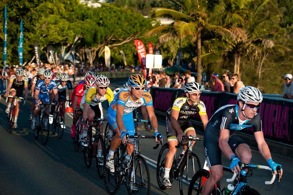 Chris Sutton at the front of the group - Noosa Men's Cycling Grand Prix, 2010. Noosa Triathlon Multi Sport Festival, 30 October, Sunshine Coast, Queensland, Australia.