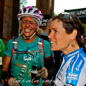 Lindsey Voreis and Kelli Emmett share race stories.