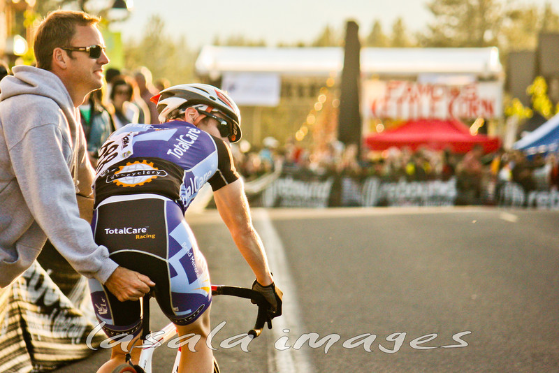 Doug LaPlaca waits to rejoin the race after a mechanical.