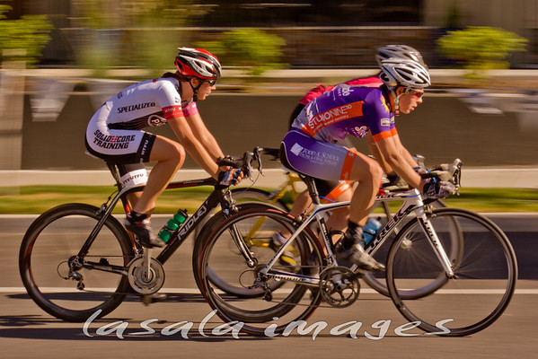 Serena Bishop and Amanda Atwill speed by.