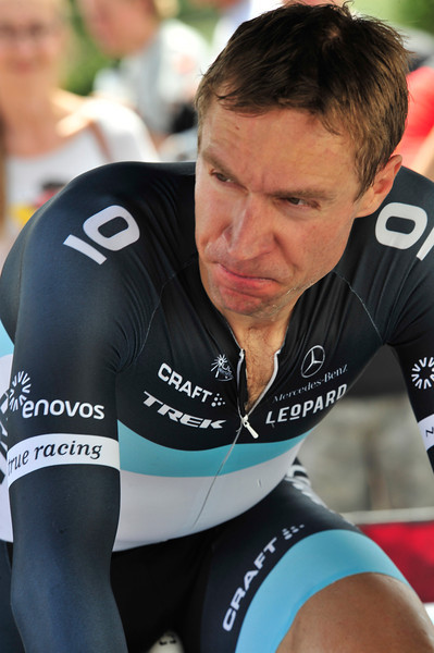 Legendary Hard Man Jens Voigt warms up before the prologue of the USA Pro Cycling Challenge in August. Though not often the team leader for any race, Voigt is known and loved for his willingness to work, suffer and sacrifice for his team.