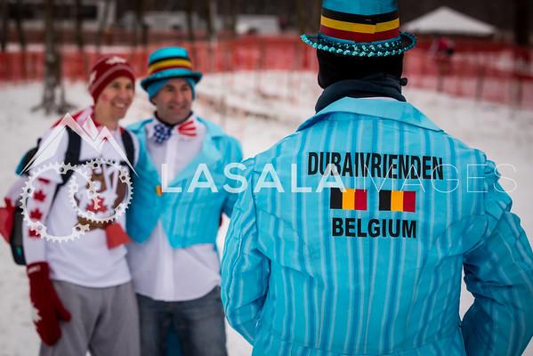 Belgian fans were numerous.