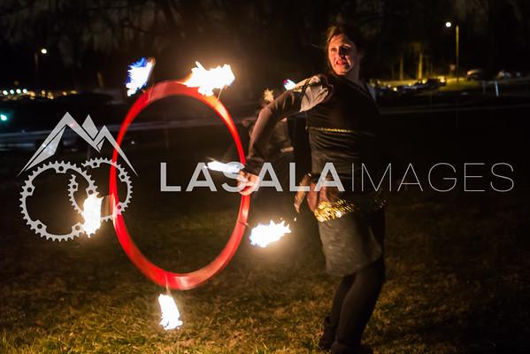Hula-hoop fire
