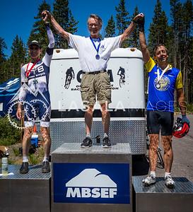 Men's 60+ Road Race Podium