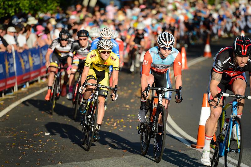 "2014 SUBARU Australian Open Criterium Men - 2014 Super Saturday at the Noosa Triathlon Multi Sport Festival, Noosa Heads, Sunshine Coast, Queensland, Australia. Camera 1. Photos by Des Thureson - <a href=""http://disci.smugmug.com"">http://disci.smugmug.com</a> - Camera 1."