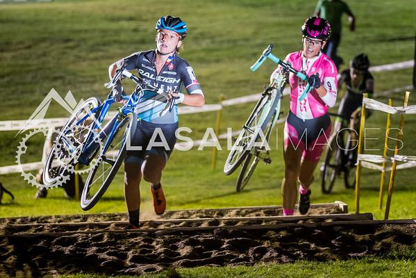 Caroline Mani and Courtenay McFadden run the barriers