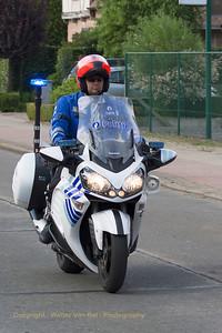 Gemotoriseerde politie...met Kawasaki