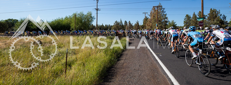Men starting stage 1 of the road race at the 2016 Cascade Cycling Classic on July 20, in Bend, USA. Photo: Matthew Lasala/Lasala Images