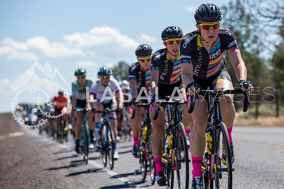 Beth Ann Orton (Visit Dallas DNA Pro Cycling) leads the women's peloton during stage 1 of the women's road race at the 2016 Cascade Cycling Classic on July 20, in Bend, USA. Photo: Matthew Lasala/Lasala Images