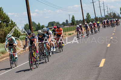 Multiple riders attack to help establish a break during stage 1 of the women's road race at the 2016 Cascade Cycling Classic on July 20, in Bend, USA. Photo: Matthew Lasala/Lasala Images