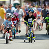 Nolan Jurcsak, 4, and Jackson Gerard, 4, with the photo finish in the kids race during the 55th annual Longsjo Classic in Fitchburg on Sunday afternoon. SENTINEL & ENTERPRISE / Ashley Green