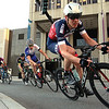 Riders hug the corners during the Longsjo Classic  Men's Pro race on Saurday in Worcester. SENTINEL &  ENTERPRISE/JOHN LOVE
