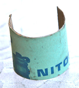 this was found in the bottom bracket-Nitor seat post box, cut to fit in the frame.