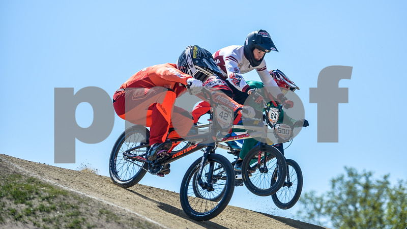 08-05-2016: Wielrennen: UCI BMX Supercross World Cup: Papendal  Jay SCHIPPERS from the Netherlands, Rihards VEIDE from Latvia, and Renato REZENDE from Brazil  Copyright Orange Pictures / Andy Astfalck