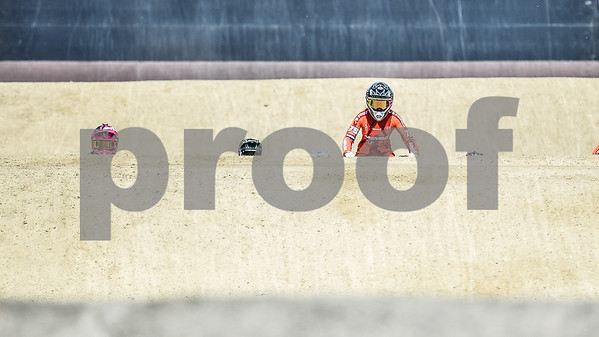 08-05-2016: Wielrennen: UCI BMX Supercross World Cup: Papendal  Merle van Benthem from the Netherlands  Copyright Orange Pictures / Andy Astfalck