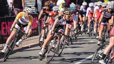 Sarah Roy - 2014 SUBARU Australian Open Criterium - Women - Cycling - 2014 Super Saturday at the Noosa Triathlon Multi Sport Festival, Noosa Heads, Sunshine Coast, Queensland, Australia. Camera 1. Photos by Des Thureson - http://disci.smugmug.com - Camera 1.