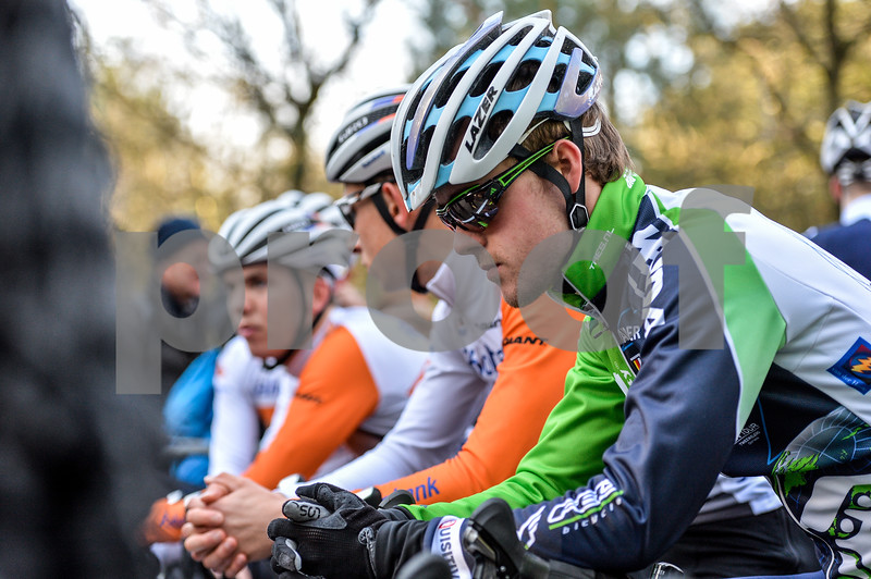 Cosse van den Meer at the start of the U23 CycloCross Dutch National Champion held in Hellendoorn, the Netherlands on the 10th of January 2016