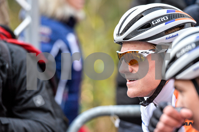 Sieben Wouters at the start of theU23 CycloCross Dutch National Champion held in Hellendoorn, the Netherlands on the 10th of January 2016