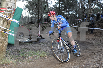 Second place Lars van der Haar at the  Mens Elite CycloCross Dutch National Championhips held in Hellendoorn, the Netherlands on the 10th of January 2016