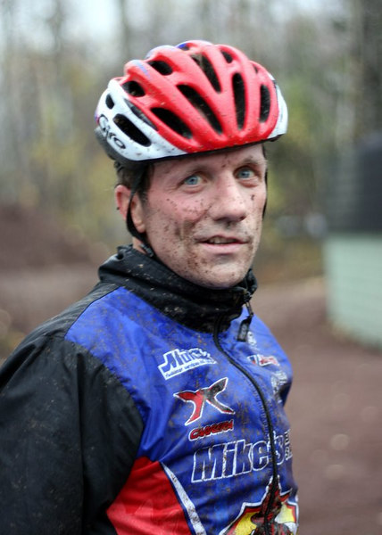 Even a new bike won't stop the pain or the mud...or the horrific looks of suffering huh? :-)