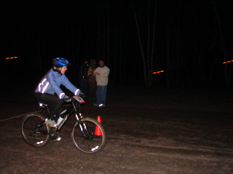 Caroline hammering around the course!
