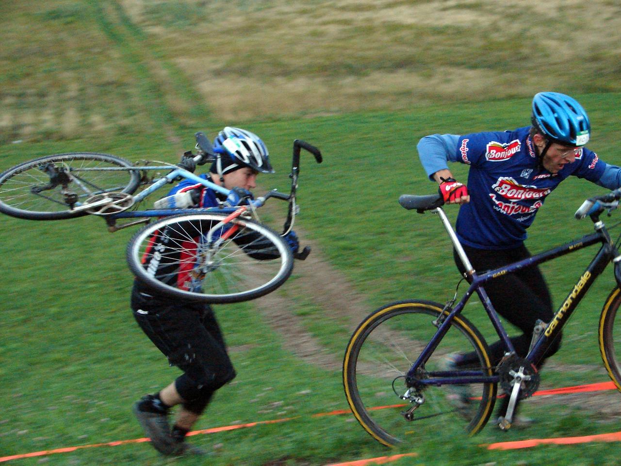 Frank carrying his frankenbike adventure racing style!