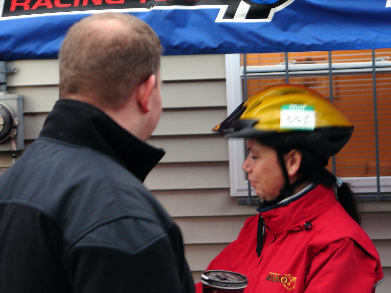 Rick of Mikes bike shop and Sherry (pre race)