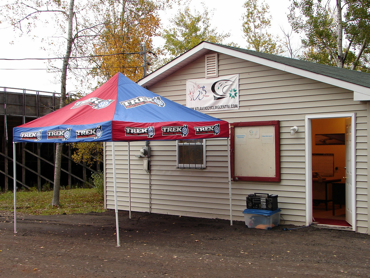 the center/the shops tent.