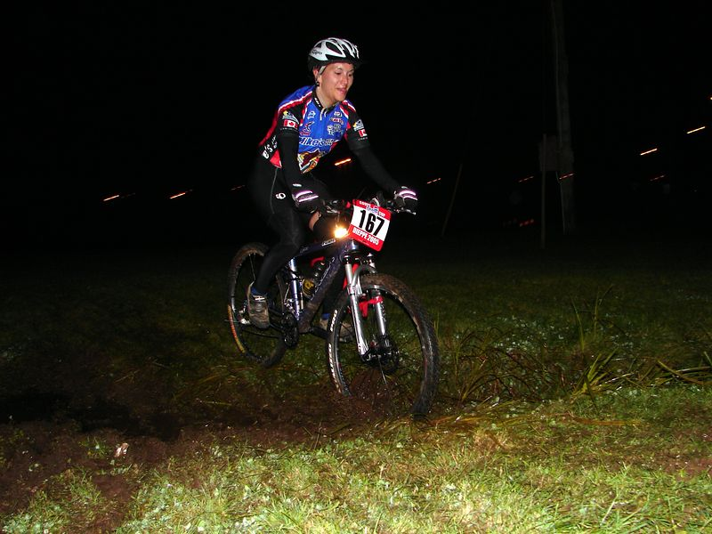 Overall Points leader Michelle Chase rockin the mud on her Fuel 90.