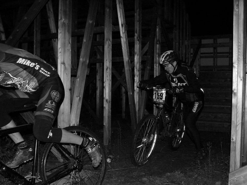 Mike Leblanc and Christian Arseneault. The long and short of it is that these two were the fastest riders in this series. Hammering away at each other. Truely an impressive site to watch and I appreciate both of these guys for killing themselves each week. Their efforts inspired many others.