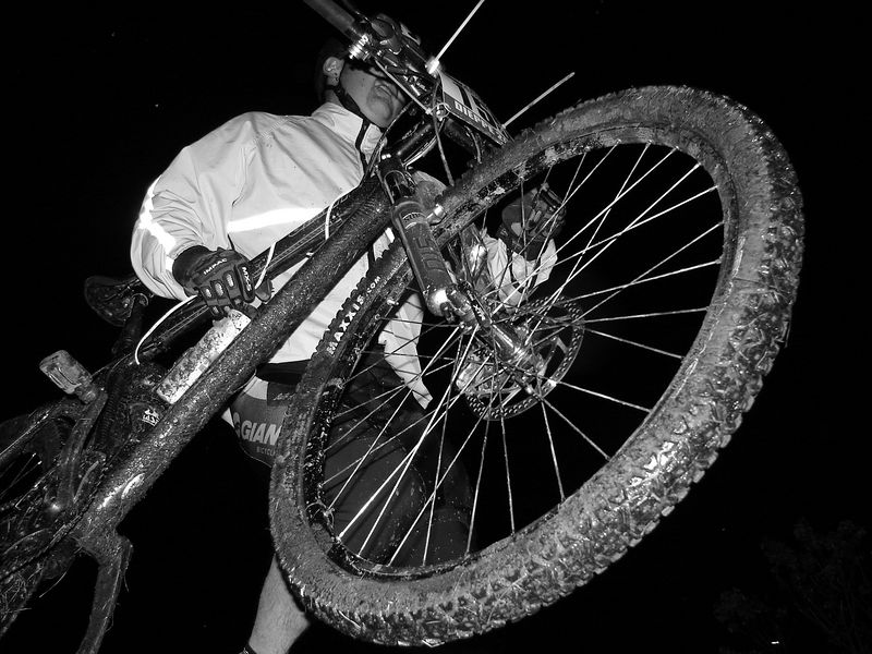 Up close and personal with Chris and his bike