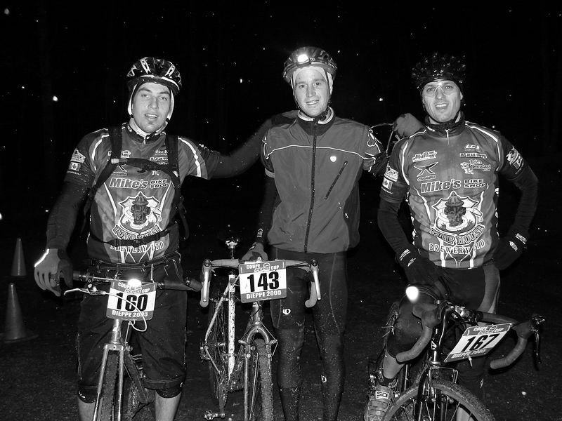 The brotherhood. Frank/Luc/Mike post race.