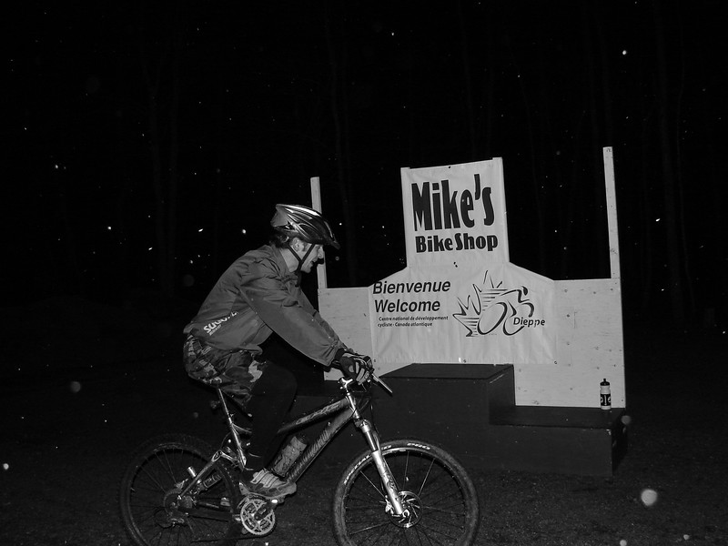 Mark Boudreau rode around and around the Mikes Bike Shop podium. I think Bud wants to switch teams wha?