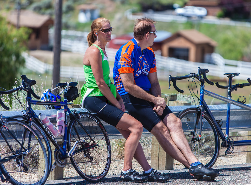 It must be Boise if you have a cyclist with a Boise State jersey on!