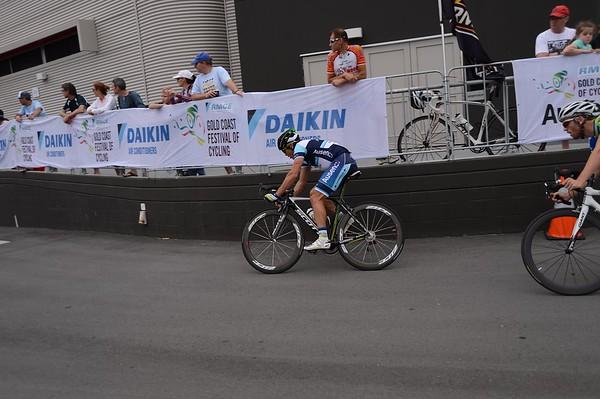 """Robbie McEwen - Criterium, Elite Men A - Gold Coast Festival of Cycling; Carrara, Gold Coast, Queensland, Australia; 28 September 2013. Camera 1. Photos by Des Thureson - <a href=""""http://disci.smugmug.com"""">http://disci.smugmug.com</a>.   -  UN-Edited Image only."""