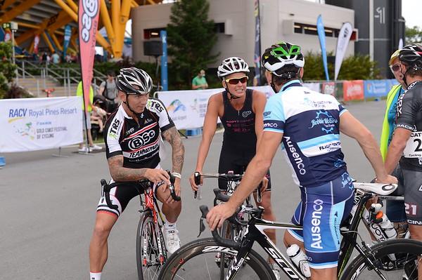 """Motosport & Celebrity Time Trial - Gold Coast Festival of Cycling; Carrara, Gold Coast, Queensland, Australia; 28 September 2013. Camera 1. Photos by Des Thureson - <a href=""""http://disci.smugmug.com"""">http://disci.smugmug.com</a>.   -  UN-Edited Image only."""