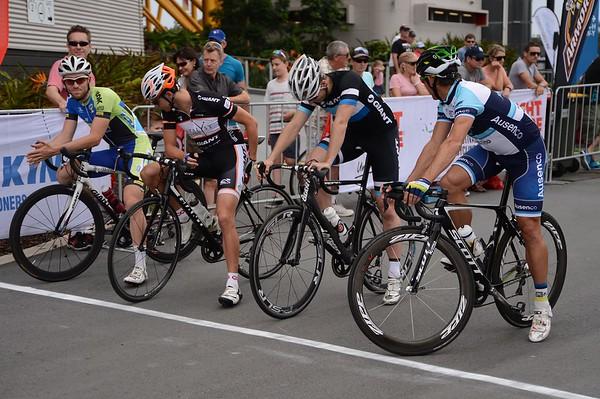 """Start Line - Robbie McEwen - Criterium, Elite Men A - Gold Coast Festival of Cycling; Carrara, Gold Coast, Queensland, Australia; 28 September 2013. Camera 1. Photos by Des Thureson - <a href=""""http://disci.smugmug.com"""">http://disci.smugmug.com</a>.   -  UN-Edited Image only."""