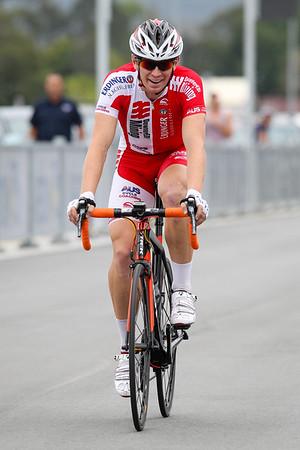 """Griff Moore - Criterium, Elite Men A - Gold Coast Festival of Cycling; Carrara, Gold Coast, Queensland, Australia; 28 September 2013. Camera 2. Photos by Des Thureson - <a href=""""http://disci.smugmug.com"""">http://disci.smugmug.com</a>."""