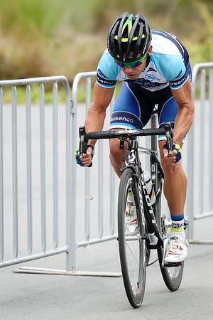 """Robbie McEwen - Criterium, Elite Men A - Gold Coast Festival of Cycling; Carrara, Gold Coast, Queensland, Australia; 28 September 2013. Camera 2. Photos by Des Thureson - <a href=""""http://disci.smugmug.com"""">http://disci.smugmug.com</a>."""