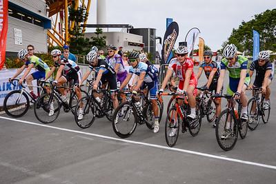 Race Start - Robbie McEwen - Criterium, Elite Men A - Gold Coast Festival of Cycling; Carrara, Gold Coast, Queensland, Australia; 28 September 2013. Camera 1. Photos by Des Thureson - http://disci.smugmug.com. Kyle Ivan Bridgwood