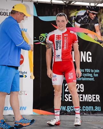 """Matt King - Presentations - Criterium, Elite Men A - Gold Coast Festival of Cycling; Carrara, Gold Coast, Queensland, Australia; 28 September 2013. Camera 1. Photos by Des Thureson - <a href=""""http://disci.smugmug.com"""">http://disci.smugmug.com</a>."""