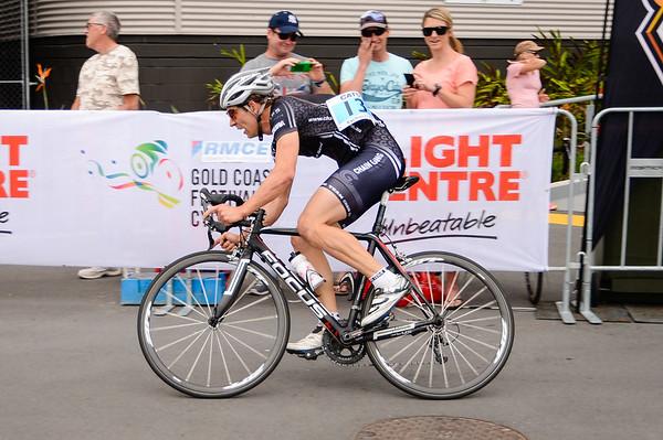 "Criterium, Elite Men A - Gold Coast Festival of Cycling; Carrara, Gold Coast, Queensland, Australia; 28 September 2013. Camera 1. Photos by Des Thureson - <a href=""http://disci.smugmug.com"">http://disci.smugmug.com</a>. Chris Myatt"